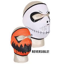 Skeleton Halloween Costume by Skeleton Pumpkin Reversible Neoprene Full Face Halloween Costume