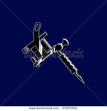 vector illustration tattoo machine stock vector 572971654