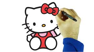kitty draw color drawing coloring kitty