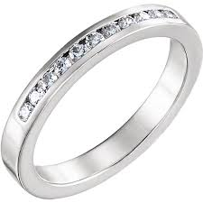 channel set wedding band platinum channel set wedding band with 13 diamonds 0 12 ctw