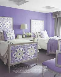 lilac bedroom featuring galbraith u0026 paul seville medallion