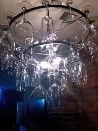 Diy Glass Chandelier Wine Glass Chandelier Don U0027t Ask Where The Wine Glasses Are Again