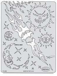 artool freehand airbrush templates pac o skullz look up airbrush