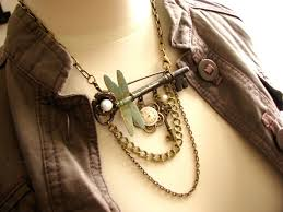 jewelry key necklace images Enigma steampunk key brooch necklace bohemian collection jpg