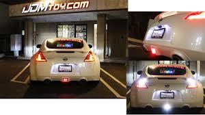 nissan 370z tail lights nissan 370z led 4th brake light in action youtube