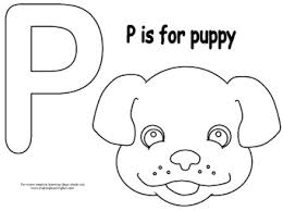 free kids puppy colouring molly u0027s abc book