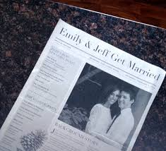 Newspaper Wedding Program Real Wedding Emily And Jeff At The Fort Garry