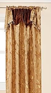 Jacquard Curtain Amazon Com Elegant Comfort Penelopie Jacquard Look Curtain Panel