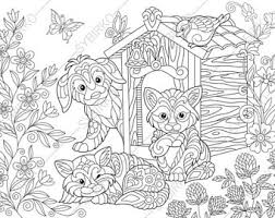 coloring pages halloween cat zentangle doodle coloring