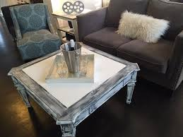 white vintage coffee table distressed white grey black coffee table farm house coffee