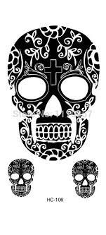 fashion black sugar skull durable waterproof
