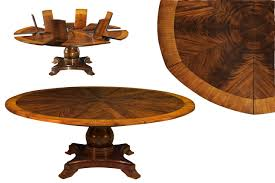 table pleasant solid walnut round arts and crafts expandable