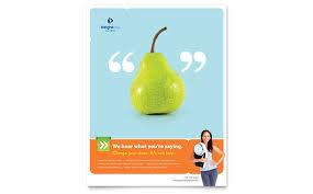 weight loss clinic postcard template design