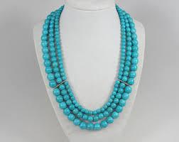 etsy beads necklace images Chunky turquoise necklace etsy jpg