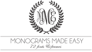 3 initial monogram fonts monograms made easy 72 fonts frames damask