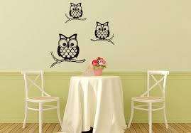 Nursery Owl Wall Decals Black Three Owls Wall Mural Poster Room Nursery Wall
