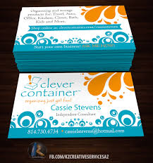 organizing business clever container business cards style kz creative services