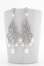 and pearl chandelier earrings bridal chandelier earrings bridal statement earrings pearl