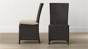 captiva java dining chair and stone cushion crate and barrel