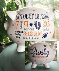 personalized baby piggy banks personalized piggy bank custom baby birth stats gift baby girl