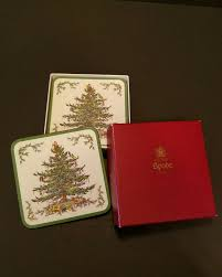 spode tree coasters set of 6 in box spode