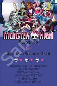 monster invitation 129 best invitations images on pinterest birthday party ideas