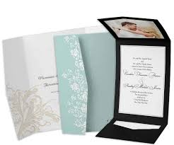 wedding invitations with pockets pocket wedding invitation plumegiant
