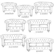 Sofa Size Chesterfield Sofa Personalised Home Design
