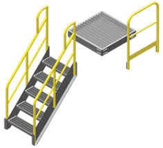 Stair Banister Height Metal Stairs And Work Platforms 5 Components Unlimited