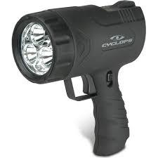cyclops varmint gun light cyclops sirius 500 lumen handheld rechargeable spotlight with six