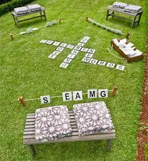make your own mega scrabble game for the garden children u0027s