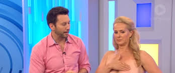 bare breast aussie morning tv s goes live with bare breast self examination