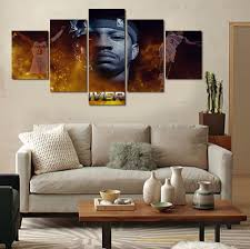 online get cheap sofa set picture aliexpress com alibaba group 5 pieces set famous basketball players wall canvas painting for sofa background decoration hd pictures