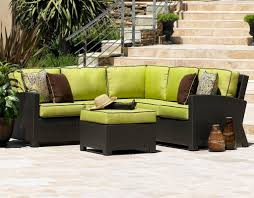 Patio Chair With Ottoman Outdoor Sectional Furniture Sale Walmart Black Wicker Sofa With