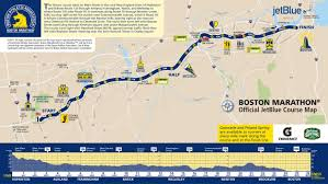 Boston Vs New York Map by Boston Marathon 2017 Route Information Course Map Road Closures