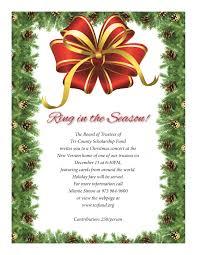 Christmas Carols Invitation Cards 2014 Christmas Concert U2013 Tri County Scholarship Fund