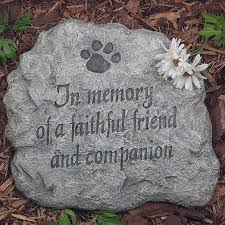 memorial stepping stones evergreen flag garden in memory of a faithful friend and