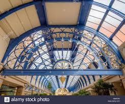 roof structure of the floral hall winter gardens blackpool stock