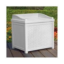 Wicker Storage Bench Outdoor Storage Benches Amazon Com