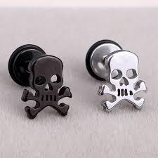 stainless steel stud earrings rock skull stainless steel stud earrings pluto99