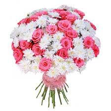 bouquet of roses mixed bouquet of roses and chrysanthemums