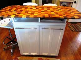 Kitchen Island With Garbage Bin Kitchen Rolling Kitchen Cabinet Kitchen Cart Stainless Steel Top