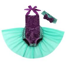 Infant Mermaid Halloween Costume Mermaid Infant Toddler Baby 2 Pc Halloween Birthday
