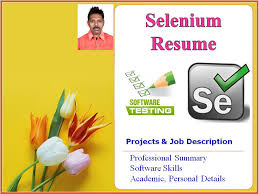 Sample Resume For Qtp Automation Testing by Selenium Tester Resume Software Testing