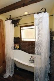 Feminine Shower Curtains Lace Shower Curtain Foter