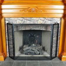 flat twisted folding fireplace screen roman bronze powdercoat
