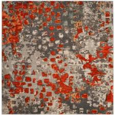 Grey And Orange Rug Safavieh Monaco Gray Orange 8 Ft X 11 Ft Area Rug Mnc225h 8