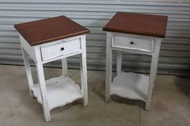pair of striped wood end tables sold by the pair only destin