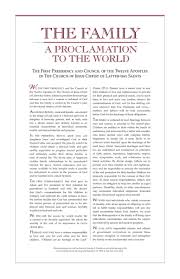 family proclamation lds world remembering and applying the family a proclamation to