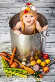 baby s thanksgiving photo shoot turkey pot dinner